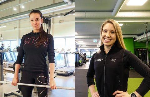 Deler sine tips: Kristine Olsen (til venstre) og Astrid Eilertsen Sørensen.
