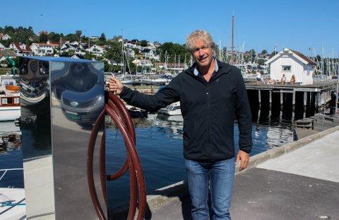 HORTEN HAVNEVESEN: Havnefogd Espen Eliassen håper fritidsbåtene tar i bruk det nye septiktømmeanlegget.