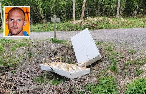 LETTVINT: Istedenfor å reise ut til Skoppum Gjenvinningsstasjon bestemt noen seg for å dumpe søppelet sitt på Olaf Tufte sin private eiendom.
