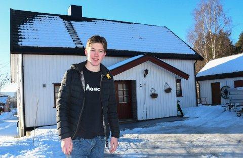Fikk viruset i kroppen: Kristoffer Aarsten fra Moelv ble smittet av korona i desember.