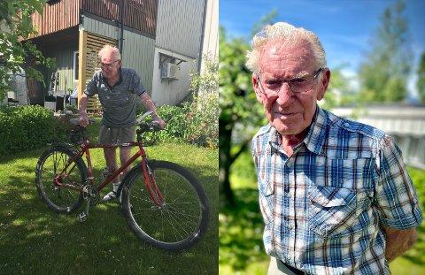 John Kopperud har i en årrekke brukt sin gamle røde sykkel til utflukter i nærområdet. Denne uken opplevde han imidlertid å få sykkelen sin frastjålet.