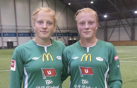 ØNSKET: Stina (til venstre) og Guro Næss Berge er ønsket av Lunner FK.