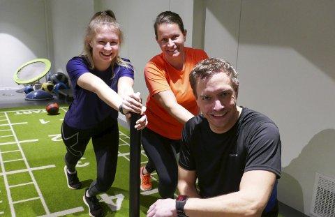 TRENING: Lene og Rino Hellesnes-Berger trener sammen.
