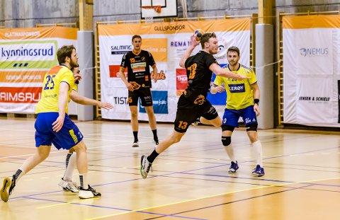 GOD KAMP: Gabriel Setterblom leverte en meget god match da Fyllingen ble slått 41-36.