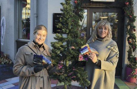 ØNSKETRE: Et juletre vil snart komme opp ved Lille Lone og det vil pyntes med bilder med Hamar-motiver. På baksiden av bildene står det ønsker som voksne folk i en vanskelig økonomisk situasjon har kommet med, blant annet deltakerne på CRUX Barm oppfølging. Miljøterapeut Martha Grønvold setter stor pris på initiativet til Nina Koteng på Lille Lone.