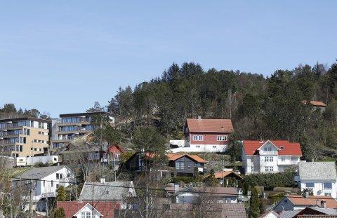 LITLASKAR: Like sør for Beverskaret, og midt mellom boligene i Litlaskar, planlegges tre nye leilighetsbygg. Foto: Alf-Robert Sommerbakk