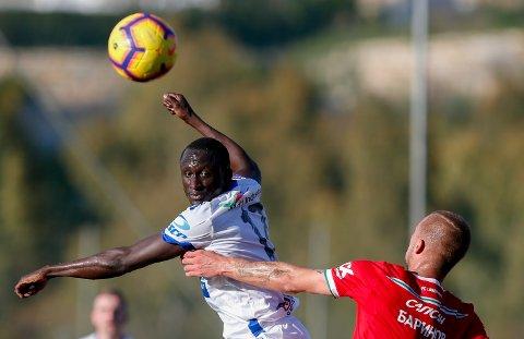 GOD: Ibrahima Wadji i aksjon for FKH mot Lokomotiv Moskva.