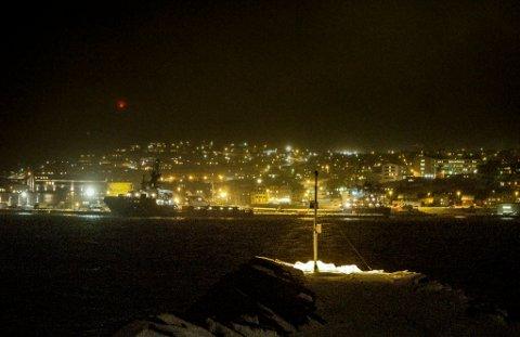 VINDKAST: Allerede kan man merke vindkastene i Hammerfest.