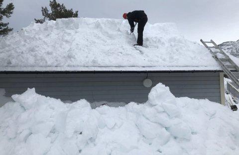 NEDSNØDD: Vi snør ned her i fylket for tiden. En heldig huseier får hjelp hos Oliver søndag.