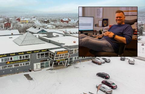 GODE LEIEINNTEKTER: Sten Rune Pettersen sier bygget har generert gode inntekter i alle år.