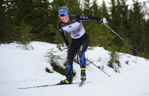 I TOPPFORM: Einar Hedegart imponerte stort da han gikk inn til en klar seier i den eldste juniorklassen iRindalsrennet.