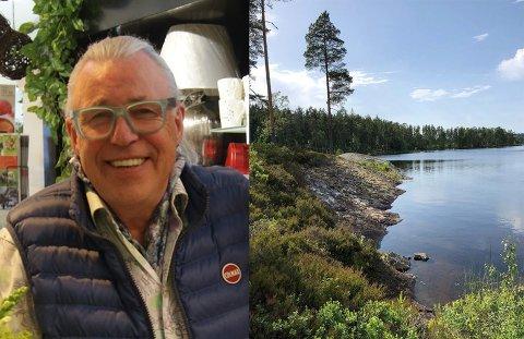 PÅ BESØK: Finn Schjøll publiserte flere bilder fra besøket på Instagram.
