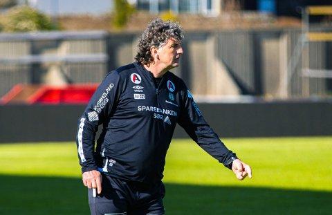 Bryne-trener Jan Halvor Halvorsen kan være fornøyd med innsatsen i Ålesund.