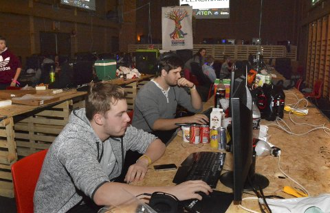 Populært: Diku-LAN i Sannidal samfunnshus samler alltid mange interesserte ungdommer. Arkivfoto: Elin Frisch Selås