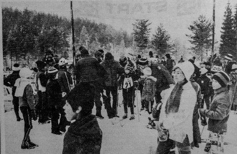 Kroken: Det ble folkefest i kroken da skirennet ble arrangert.