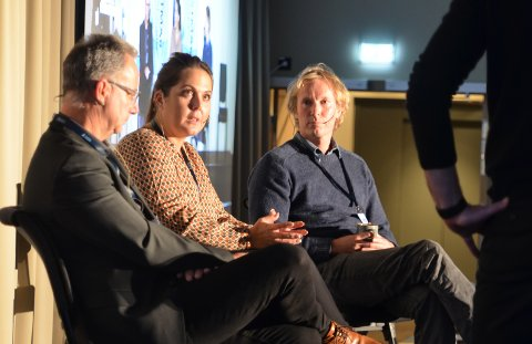 PANELDISKUSJON: F.v.: Rune Hvass, Lene Westgaard Halle og Per-Erik Schulze.