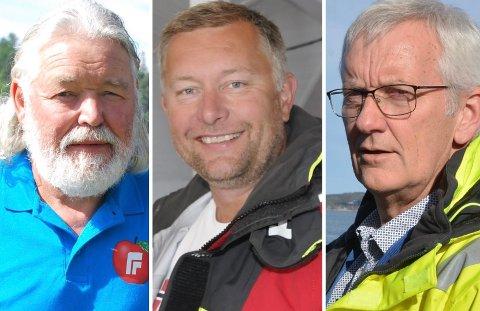 FORHANDLINGSDELEGASJON: F.v.: havnestyreleder Jan Samuelsen (Frp), næringsdrivende Ole Gundersen og havnefogd Svein Arne Walle skal i nye forhandlingsmøter med Kragerø Utvikling AS.
