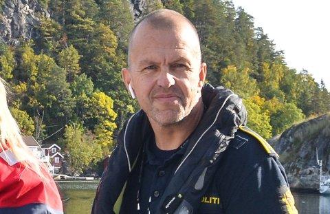 Politioverbetjent Terje Sandik ved Kragerø politistasjon.