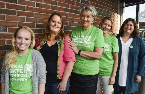 Klare for INNSATS: Aksjonsgruppa for TV-aksjonen 2015. Frå venstre: Andrea Albrethson, Anniken Kjeka, Synnøve Solbakken, Linn Stene Hellås og Ingvild Toskedal. Aksjonsdagen er søndag 18. oktober.