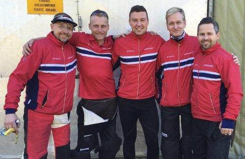 GULLAG: Fra venstre: Hans Kr. Wear, kim-André Aannestad lund, Ole Kristian Bryhn, Odd Arne Brekne og Stian Bogar.