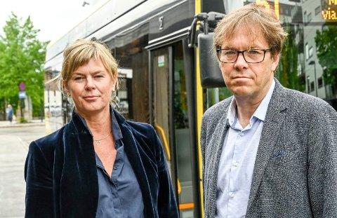 MÅ KUTTE: Kjersti Nordgård er salgs- og markedssjef, Terje Sundfjord er administrerende direktør i Brakar. De forbereder kutt i både Kongsberg og Drammen.