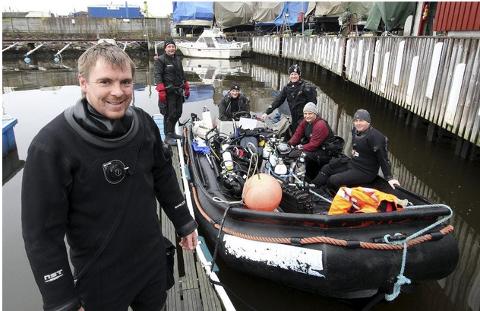 Bildet ble tatt da Dan Kåre Engebretsen og dykkere i Moss Undervannsklubb dykket ned til Norvard i 2014. Nå har dykkerklubben store planer på gang i Mossesundet.