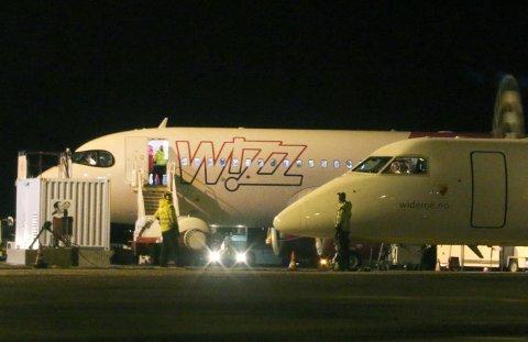 TRØBBEL: Mandag landet et fly fra Wizz Air i Tromsø - uten passasjerer.