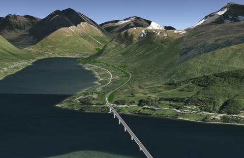 NY BRU: Slik skal Ramfjord bru se ut ifølge illustrasjonen fra Statens Vegvesen.