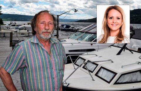 UT PÅ TUR: – Det vil være interessant med en rundtur i båt på Randsfjorden, sier distriktsministeren Linda Hofstad Helleland til OA.