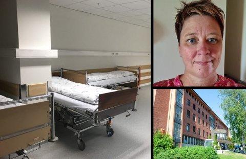 BEKYMRET: Tillitsvalgt ved sykehuset i Gjøvik, Kristin Stensrud, sier til Oppland Arbeiderblad at hun er bekymret for at den dårlige kvaliteten på sykesengene kan få følger.