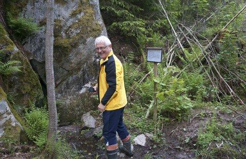 BLIR VERNET: Trolldalen blir vernet som naturreservat. På bildet ser vi Birger Løvland, som i mange år har skrevet omfattende turanbefalinger for ØB.