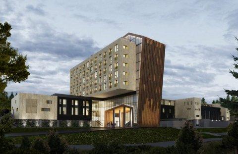 I STIL: Hotellet strekker seg over 8000 kvm og skal stå i arkitektonisk stil med The Well sine 10.500kvm.