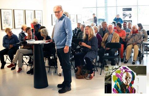 Tor Buaas fortalte om Carl Nesjars barndom og oppvekst i Larvik og New York.