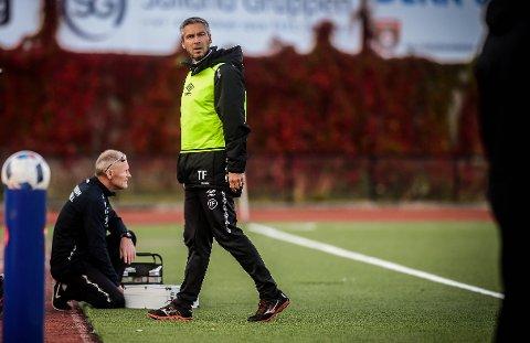 FORBANNET: Elverum-trener Tore Fossum er ikke imponert over at laget hans må ut i NM-kamp mot Bodø/Glimt borte i 3. runde.