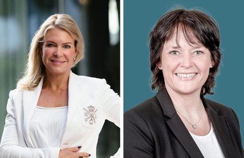 SIGNALISER GOD TID: Megler Kathrine Malt hos Sem & Johnsen og fagsjef Nina Fodstad Skumsrud i Norges Eiendomsmeglerforbund er begge kritiske til lukkede bud i kampen om en bolig.