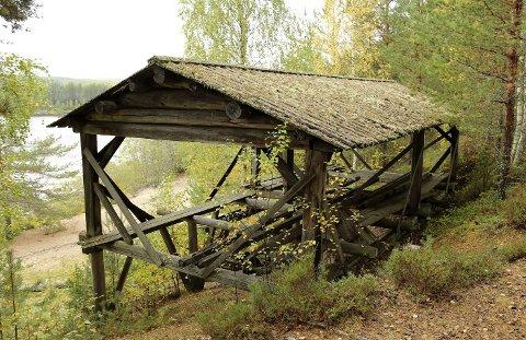 TATT NED: Oppgangssaga på Glomdalsmuseet ble tatt ned i mai. Det er uklart når eller om den blir satt opp igjen. (Foto: Anno Glomdalsmuseet)