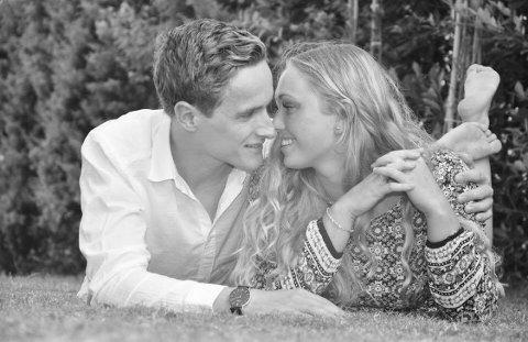 DEN RETTE: Simen Oxholm og Monica Habbestad Ingri ble kjærester da de var 16 år gamle.