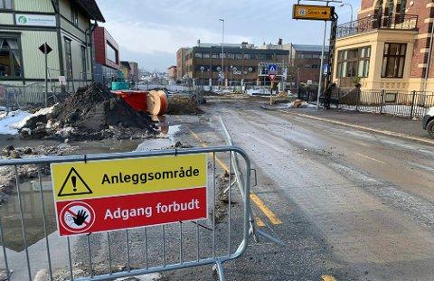 FORBUDT: Kommunen vil ikke ha folk inn på området.