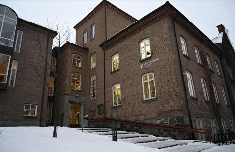 MÅTTE HJEM: Elevene i to klassetrinn ved Lillehammer videregående skole avdeling sør rakk første time, før de fikk beskjed om å gå hjem.