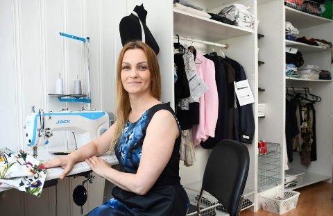 Satser: Olga Zhuk har startet egen systue i Moelv.