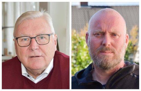 SKAL SNAKKE SAMMEN: Jan Torkehagen (t.v.) og Odd-Amund Lundberg bekrefter at det har vært kontakt mellom Ringsaker Arbeiderparti og Ringsaker Senterparti jamfør skolesaken.