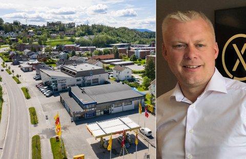 VIL BYGGE: Her planlegger Morten Pettersen og XPND å bygge boligblokker med inntil 80 boenheter.