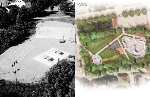 Kommunen vil revitalisere området ved Livbanen. Basket, bordtennis og petanque, som er der i dag, blir videreført i en ny aktivitetspark med flere aktiviteter.