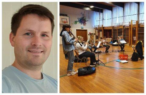 LAGER KURS: Kristoffer Ryeng håper ungdommen blir fristet av et krasjkurs på trompet, saksofon eller trommer.
