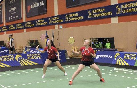 Thriller: Marie Christensen og Emilie Sotnes Hamang snudde kampen mot en finsk duo og sikret kvartfinaleplassen.