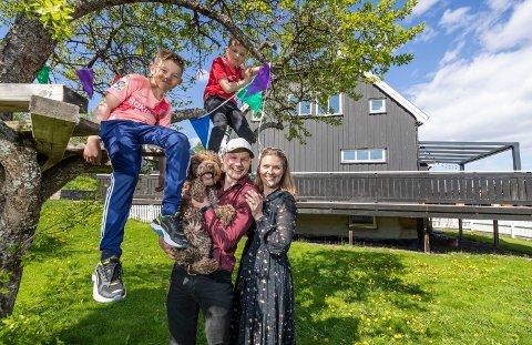 MOT STRØMMEN: Anette Pakkanen Ellingsson, Jens Ellingsson og barna Solan og Jesper gleder seg til å bli osloboere. De mener Oslo har alt: Marka, fjorden, idrett, shopping, kulturliv og konserter.