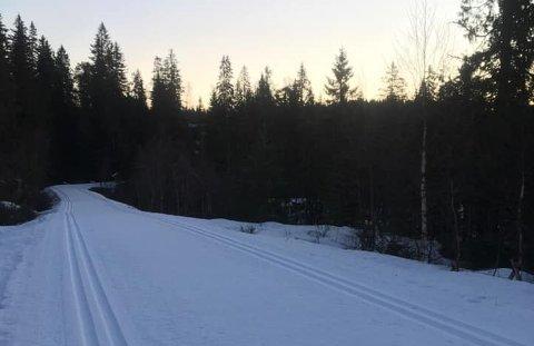 Løypekjøreren la fredag morgen ut dette fristende bildet av forholdene i Vestskauen.