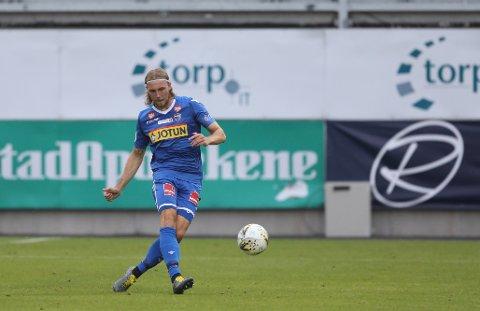 FORNØYD: Sander Moen Foss er glad for at han og klubben ble enige om en ny kontrakt.