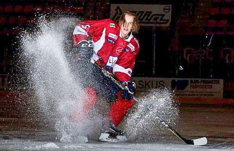 PÅ LANDSLAGET: Eirik Hafstad Johansen fra Trømborg skal spille for G18-landslaget til Norge i midten av desember. Det blir hans første kamper med flagget på brystet.