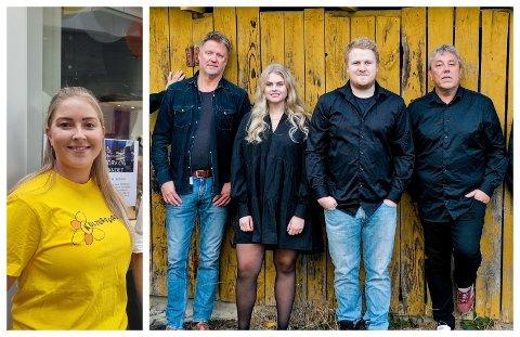 GLEDELEG: Marknads- og arrangementsansvarleg i Sogndal kulturhus, Karoline Eggum Lerum, seier billettane til konserten med bandet Folk Flest frå Luster gjekk unna på rekordtid.